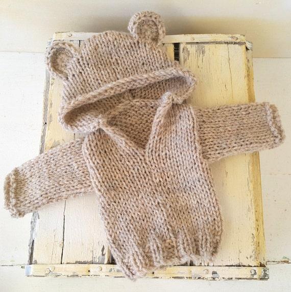 Baby Bear Hoodie Pattern - 0-6 months hoodie pattern ...