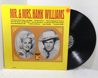 Mr. & Mrs. Hank Williams vinyl record LP album 40's 50's Country VG