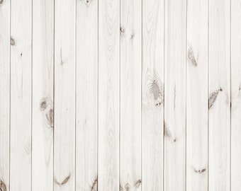 Newborn Photography Backdrop, White Wood Planks photoshoot background, Product Food photography backdrop, Shabby wood floordrop XT-3107