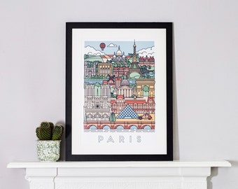 Graphical Poster of Paris