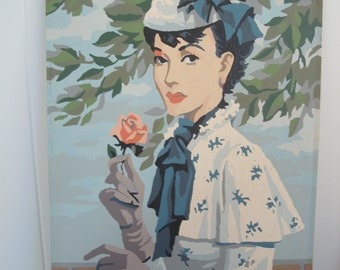 Vintage Paint by Number -Glamourous Parisian lady