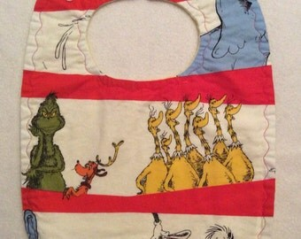 Dr Seuss Characters Baby Bib