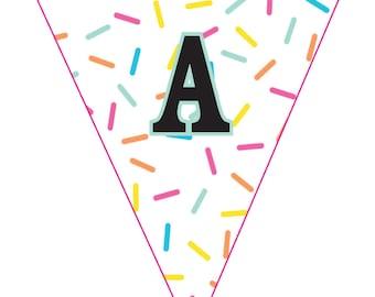 Printable Sprinkles Party Banner