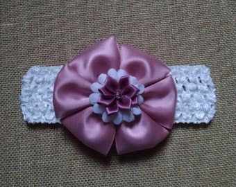 Pink Headband, Flower Headband, Baby Headband, Baby Hair Accessory, Girls Hairbow, Baby Girl Headband, Infant Headband, Baby Bow Headband