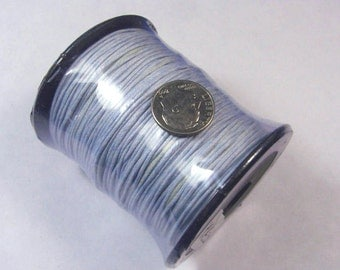 Blue Gray 1mm waxed cotton cord