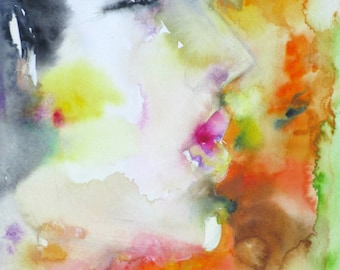 DAVIDE - original watercolor painting - one of a kind!