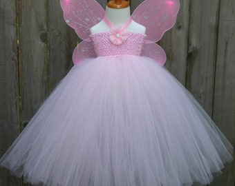 Pink Fairy Costume, Girl's Fairy Costume, Pink Fairy Tutu, Halloween Fairy Costume, Pink Tutu Dress, Fairy Costume
