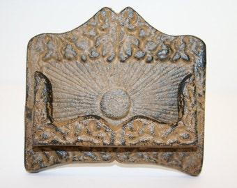 Cast Iron Business Card Holder