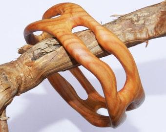 Wooden bracelet, Wooden bangle, Larch Bangle