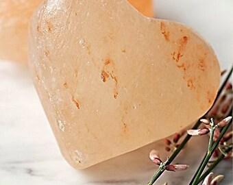 Himalayan Salt Heart Shaped Massage, Deodorant or Exfoliant Stone Symbolic Gift