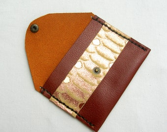 Leather oyster card holder. Leather bus pass holder. Brown leather credit card holder. Leather rail card holder. Small leather coin purse