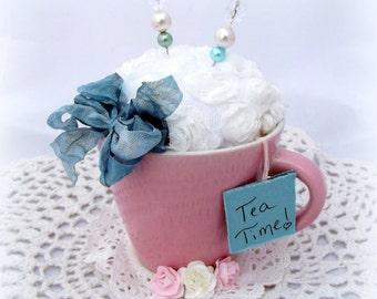 Pink Tea Cup Pin Cushion