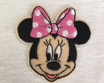 Disney-Minnie Mouse With Pink Bow Patch