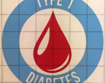 Diabetes Medical Alert Vinyl Decal