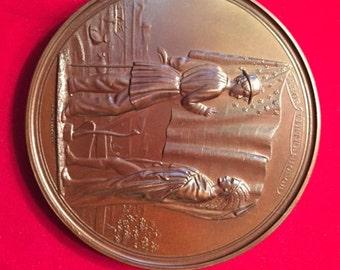 1853 US Indian Peace Medal w President Franklin Pierce