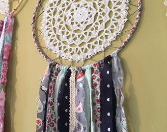 Dream catcher - Blue, Grey & Red