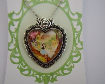 Vintage Alice in Wonderland poster necklace
