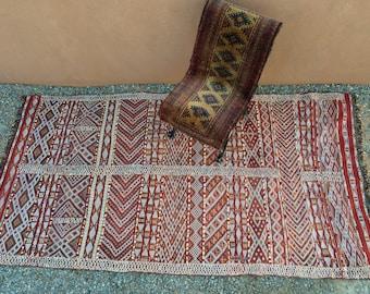 SALE Vintage Moroccan Rug Azrou Beni Mu0027Guild MGuild Kilim Berber Tribal Rug  Zaiane Zemmour