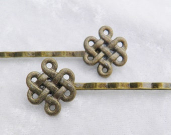 Celtic Knot Bobby Pin Pair hair pins