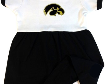 Iowa Hawkeye Baby Bodysuit Dress