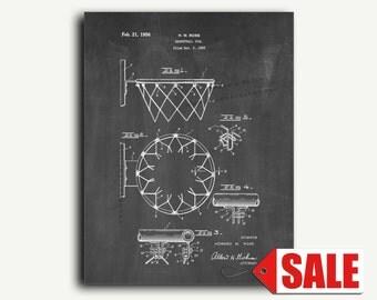 Patent Art - Basketball Goal Patent Wall Art Print