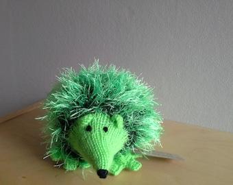 Bright green hedgehog