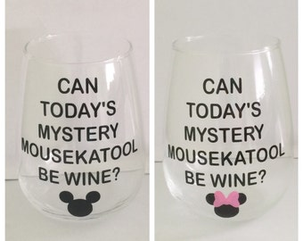 Mom's Mystery Mousekatool wine glass