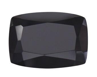 Thai Black Spinel Cushion Cut Loose Gemstone 1A Quality 14x10mm TGW 7.35 cts.