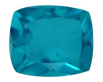Capri Blue Quartz Triplet Loose Gemstone Cushion Cut 1A Quality 12x10mm TGW 4.50 cts.