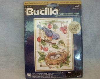 Bucilla Counted Cross Stitch Kit #4200 Bluebird's Nest