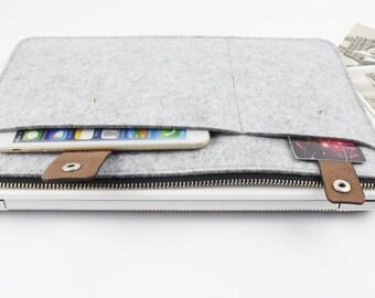 """felt Macbook Air 13.3"""" sleeve, Macbook air case, Macbook 13.3"""" case, Macbook Air sleeve, Macbook sleeve, laptop case, Laptop sleeve SJ318"""