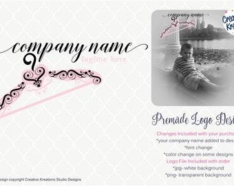 Premade Laundry Laundromat Logo Hanger Logo Dry Cleaner Logo Style Logo Fashion Logo Clothes Logo Closet Logo Maid Logo Boutique Logo