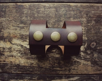 Handmade Leather cut-out cuff