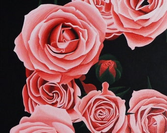Pink Roses Original Acrylic Canvas Painting