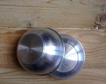 2 aluminium bowls set