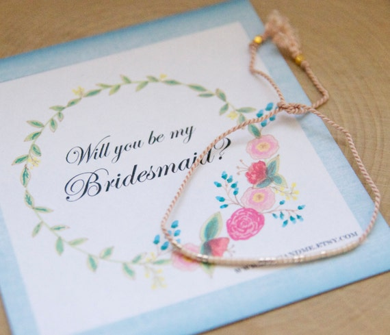 Will you be my bridesmaid bracelet in morse code