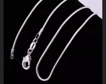 """1 sterling silver snake chain 16"""" necklace. Ships Quick from So California."""