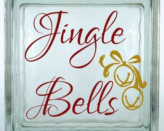 Jingle Bells Decal Sticker ~ Choose Decal Colors - No Background