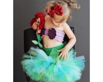 Mermaid Tutu Dress- Mermaid Costume- 0-6 Years- Purples, Blues, & Greens, Pink Mermaid Costume, Mermaid Party Outfit