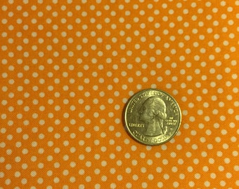 Orange fitted toddler sheet with white dots, Crib sheet, toddler sheet, orange fitted crib sheet