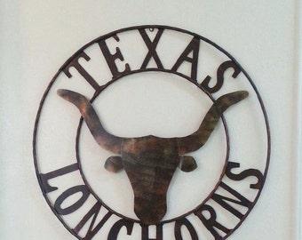 Texas university metal decor