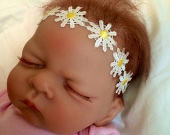 Baby girl daisy flower headband, toddler headband