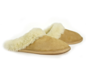 Handmade Womens Sheep Skin Leather Shoes Slippers Boots