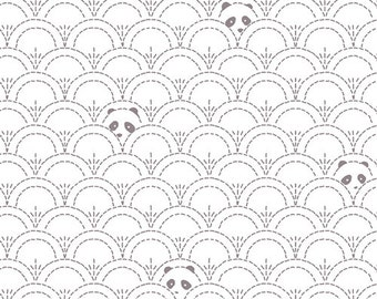 Hidden Panda Cottonbud, Pandalicious Collection by Katarina Roccella for Art Gallery Fabrics, Woven quilting cotton 6136