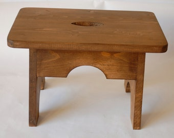 Handmade Wooden Footstool/Step Rustic Shaker Style NEW
