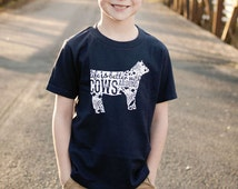 Life with Cows  - Kids Tee By Rubys Rubbish