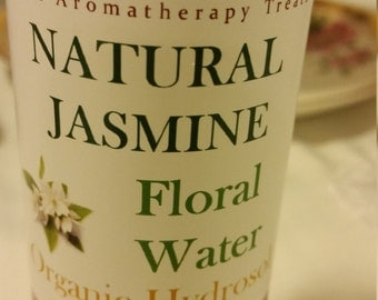 Jasmine hydrosol, Face toner, Jasmine water for skin care, hair or body spray, pure and natural -8 oz