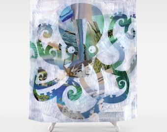 Octopus shower curtain | Etsy