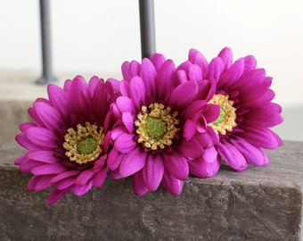 Daisy Barrette - Daisy Hair Barrette, Daisy Hair Clip, Sunflower Hair Barrette, Floral Barrette, Flower Barrette, Summer Barrette
