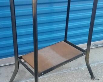 Vinatge industrial metal stand table base steampunk